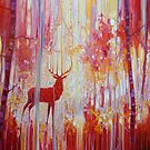 Red Stag by Gill Bustamante