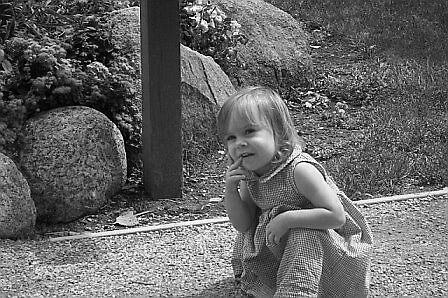 pondering child by Fran Sorenson