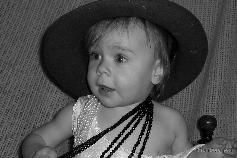 dress up baby black & white by Fran Sorenson