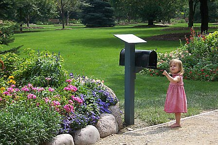 child checking the mail by Fran Sorenson