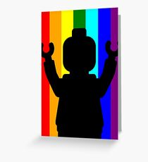 Minifig Pride Greeting Card