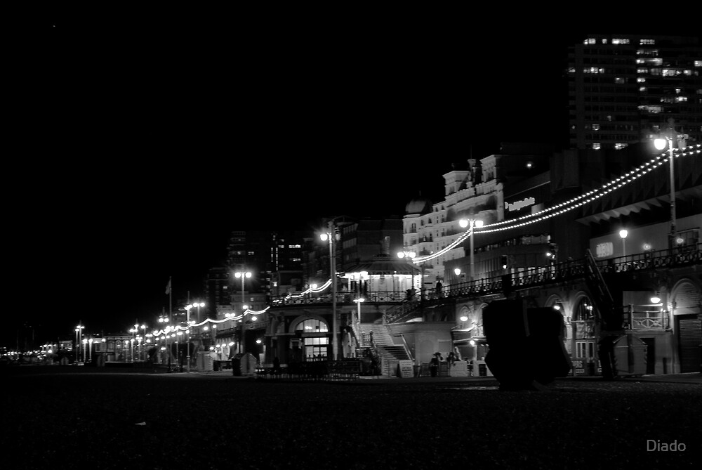 Brighton Seafront at Night by Diado