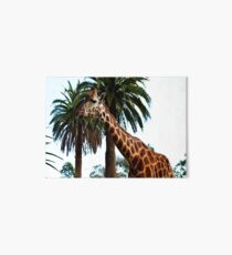 Funny Giraffe Poking Out Her Tongue, Art Board