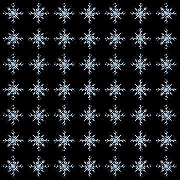 Christmas Pattern Series - Snowflake 3 Ice Blue by Ian2Danim
