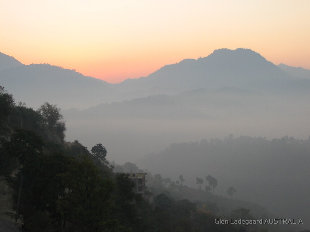 Misty Menri Dawn by Glen Ladegaard AUSTRALIA