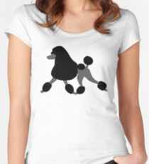 Black Poodle Women's Fitted Scoop T-Shirt