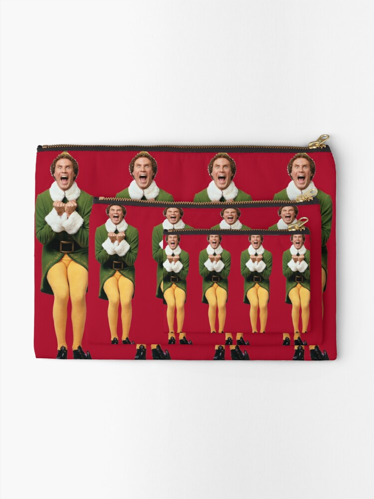 Alternate view of SANTA! OH MY GOD! SANTA'S COMING! I KNOW HIM! I KNOW HIM! Zipper Pouch