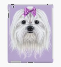 Illustrated Portrait of Maltese Dog iPad Case/Skin
