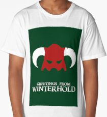 Skyrim - greetings from winterhold Long T-Shirt