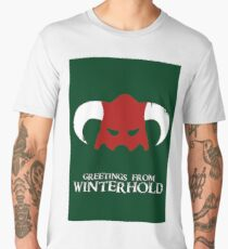 Skyrim - greetings from winterhold Men's Premium T-Shirt