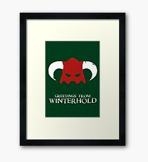 Skyrim - greetings from winterhold Framed Print