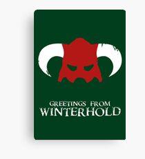 Skyrim - greetings from winterhold Canvas Print