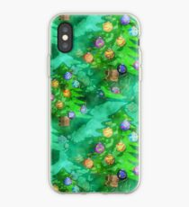 Watercolour Christmas Tree Background Painting iPhone Case
