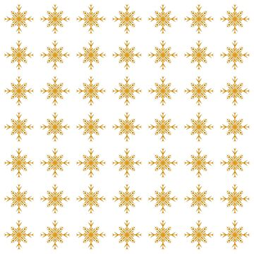 Christmas Pattern Series - Snowflake 3 Gold by Ian2Danim