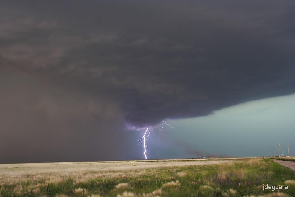 Tornadoes fire and lightning Oklahoma USA by jdeguara
