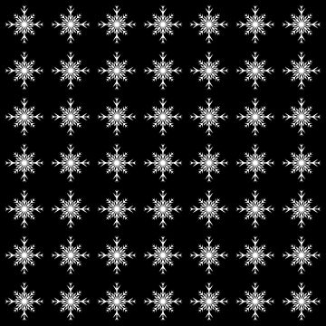 Christmas Pattern Series - Snowflake 3 White by Ian2Danim