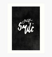 Just Smile Art Print