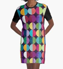 Moon Graphic T-Shirt Dress