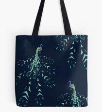 Peacock geometric fragmentation Tote Bag