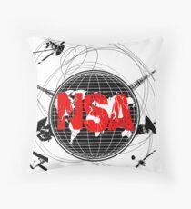NSA Satellites Floor Pillow