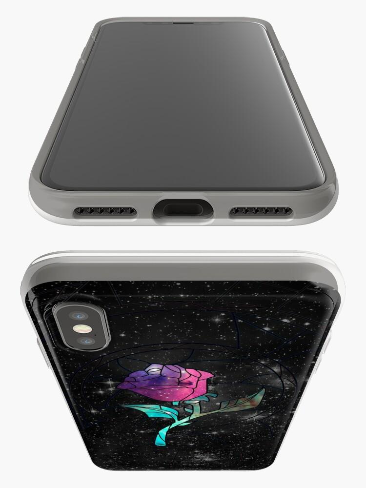 Alternative Ansicht von Buntglas-Rosen-Galaxie iPhone-Hüllen & Cover