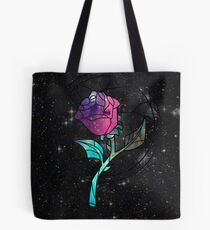 Stained Glass Rose Galaxy Tote Bag