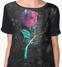 Stained Glass Rose Galaxy Chiffon Top
