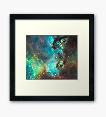 Green Galaxy Framed Print