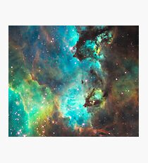 Green Galaxy Photographic Print