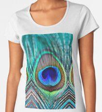 Peacock Feather Women's Premium T-Shirt