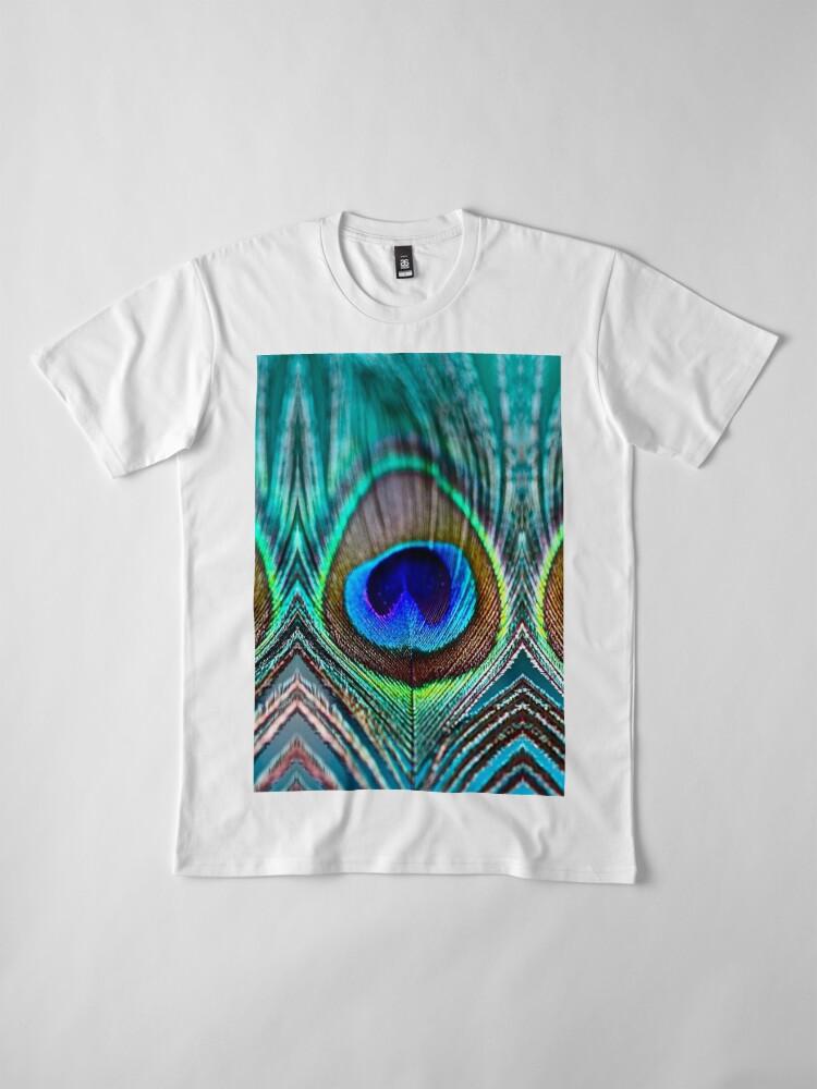 Alternative Ansicht von Pfauenfeder Premium T-Shirt