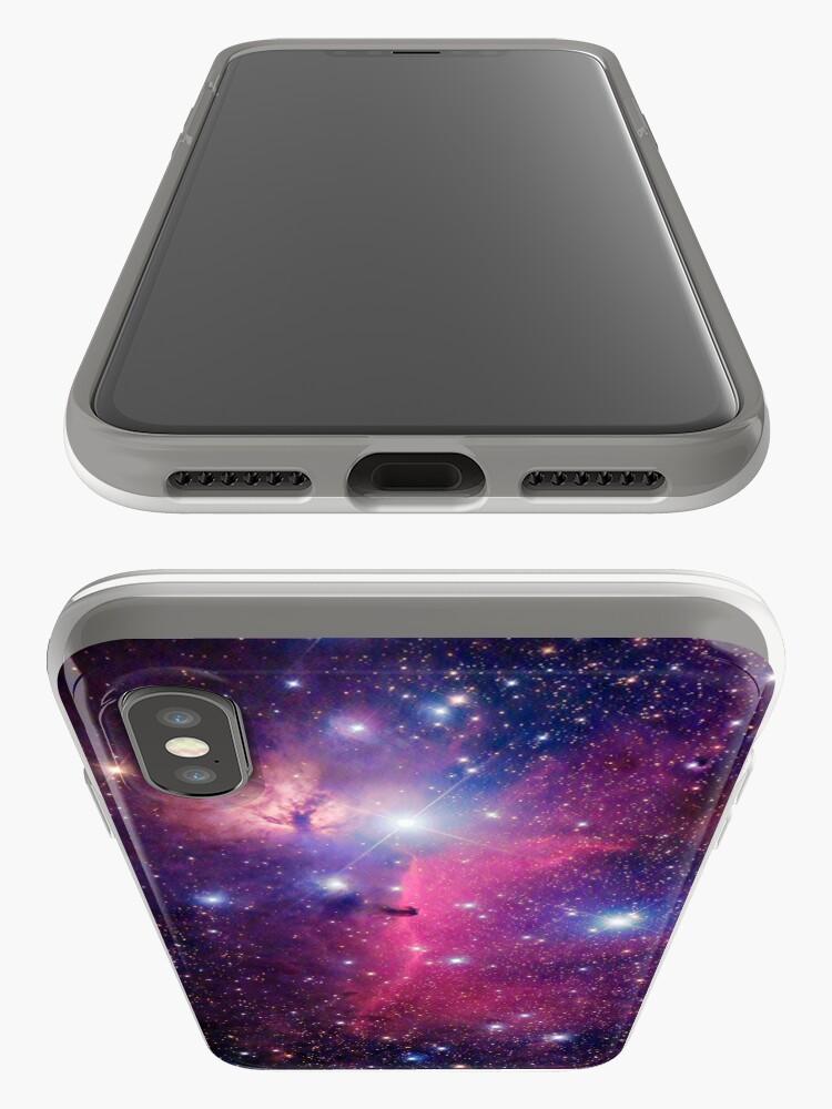 Alternative Ansicht von Lila Galaxie iPhone-Hülle & Cover