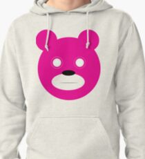 Stare bear -magenta Pullover Hoodie