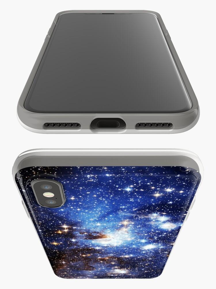Alternative Ansicht von Blaue Galaxie 3.0 iPhone-Hülle & Cover