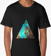 Green Galaxy Triangle Long T-Shirt