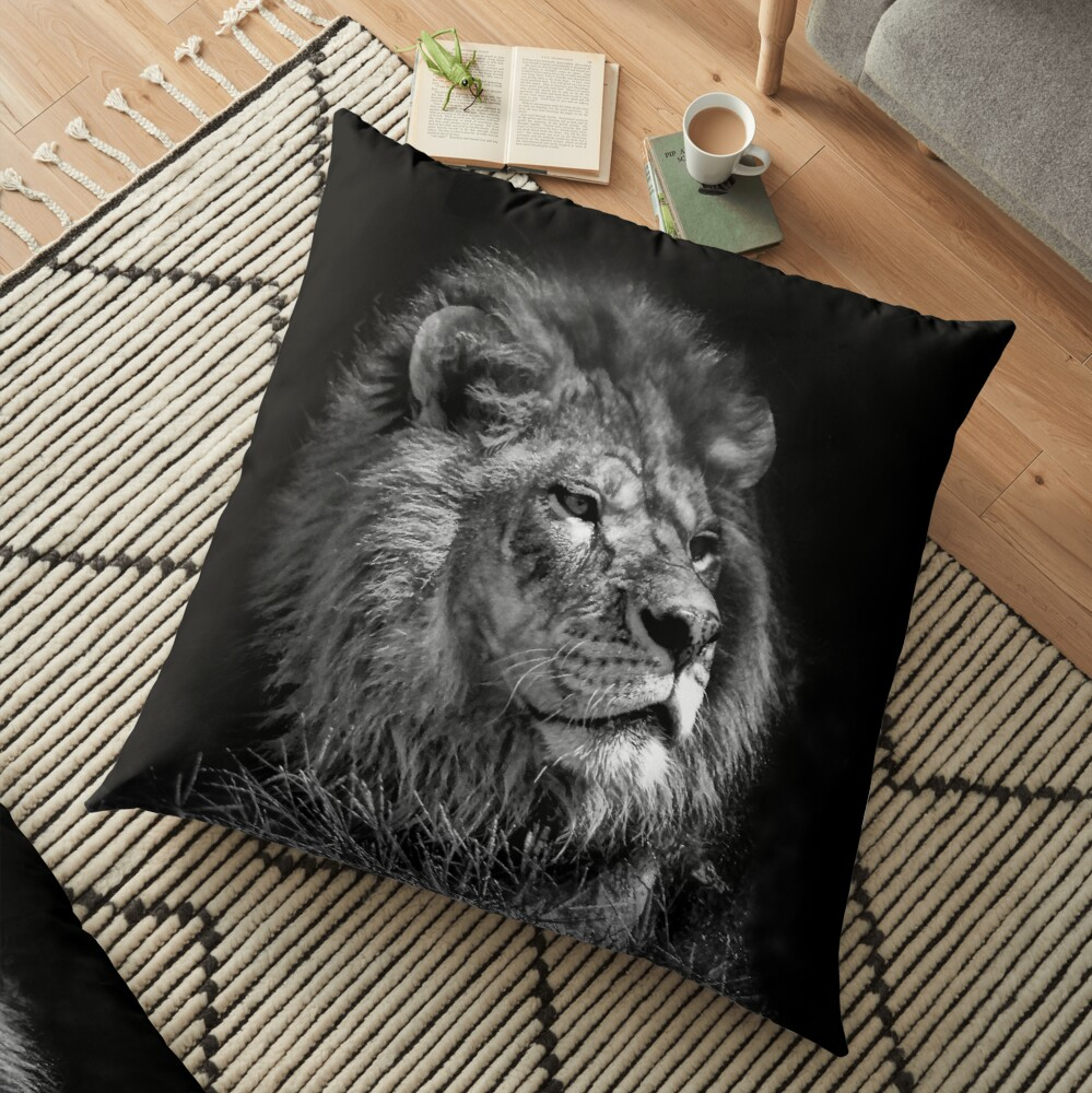 Proud Young Lion Floor Pillow