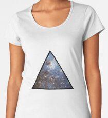 Blue Galaxy Triangle Women's Premium T-Shirt