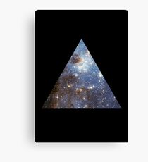 Blue Galaxy Triangle Canvas Print