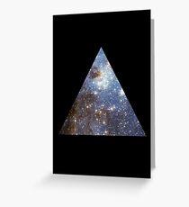 Blue Galaxy Triangle Greeting Card