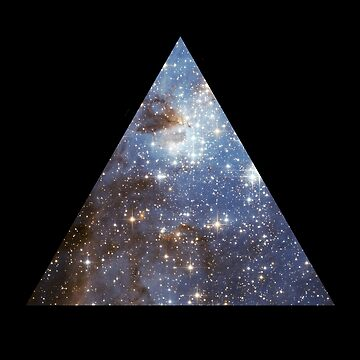 Blue Galaxy Triangle by rapplatt