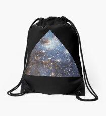 Blue Galaxy Triangle Drawstring Bag