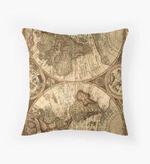 Ancient Map Throw Pillow