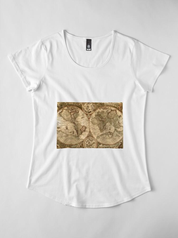 Alternative Ansicht von Alte Karte Premium Rundhals-Shirt
