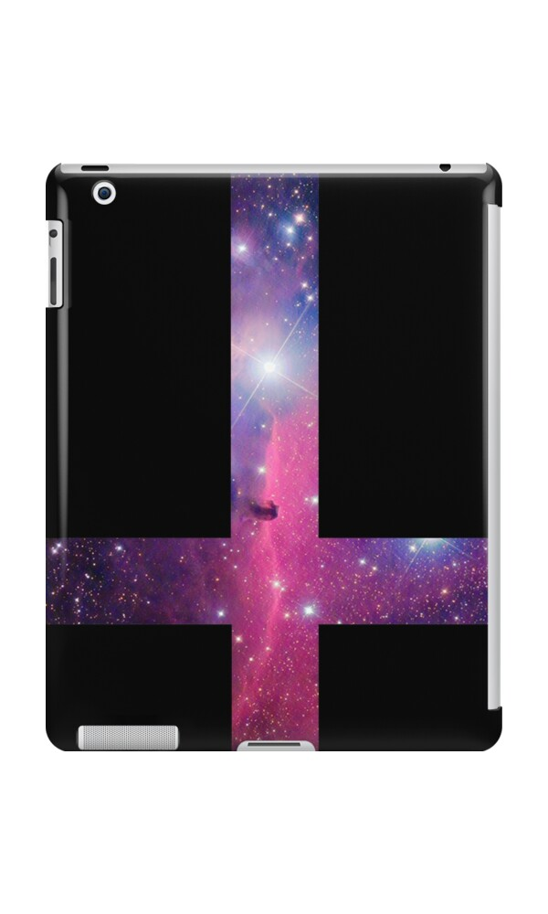 """Purple Galaxy Inverted Cross"" iPad Cases & Skins by ..."