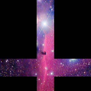 Purple Galaxy Inverted Cross by rapplatt