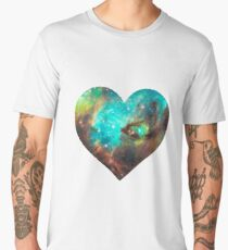 Green Galaxy Heart Men's Premium T-Shirt