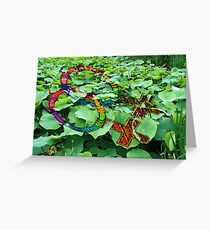 a womans pond - inkedup! Greeting Card