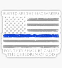 Gesegnet sind die Friedensstifter Sticker