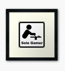 Solo Gamer Framed Print