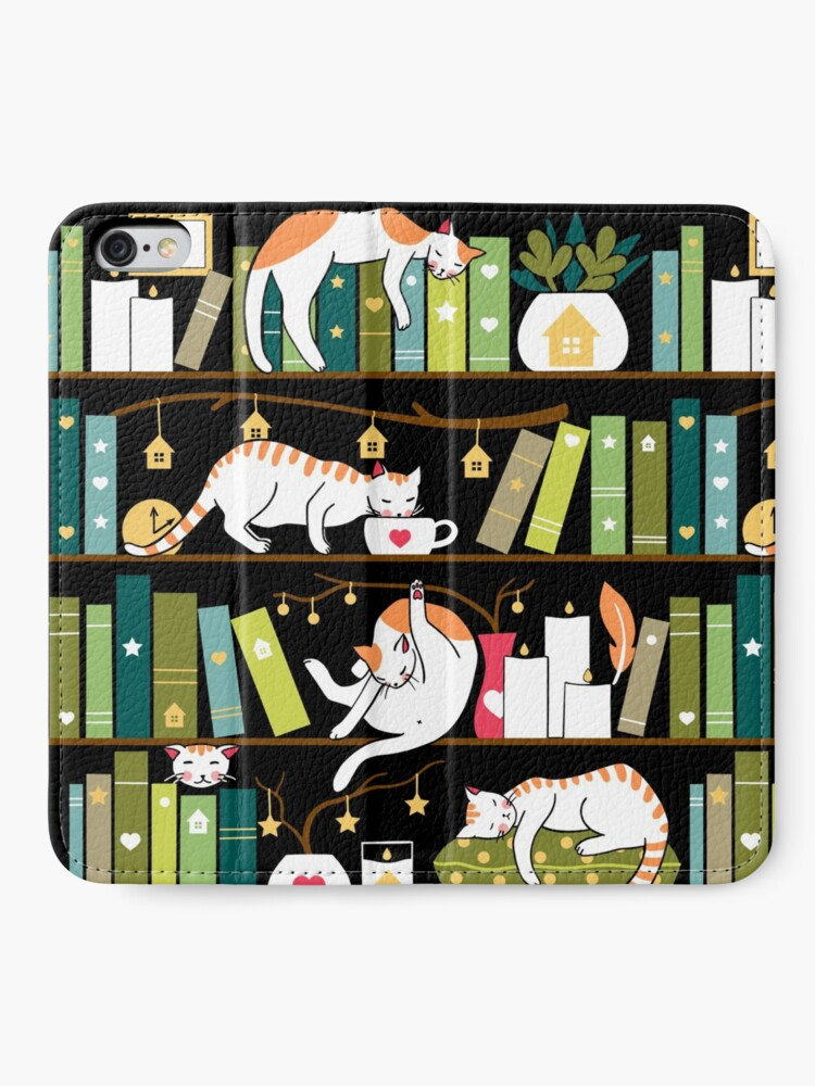 Alternate view of Library cats iPhone Wallet